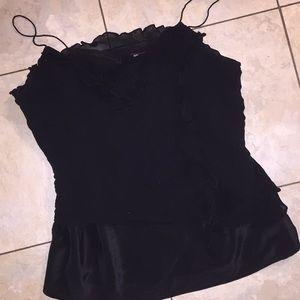 Sexy black tank top